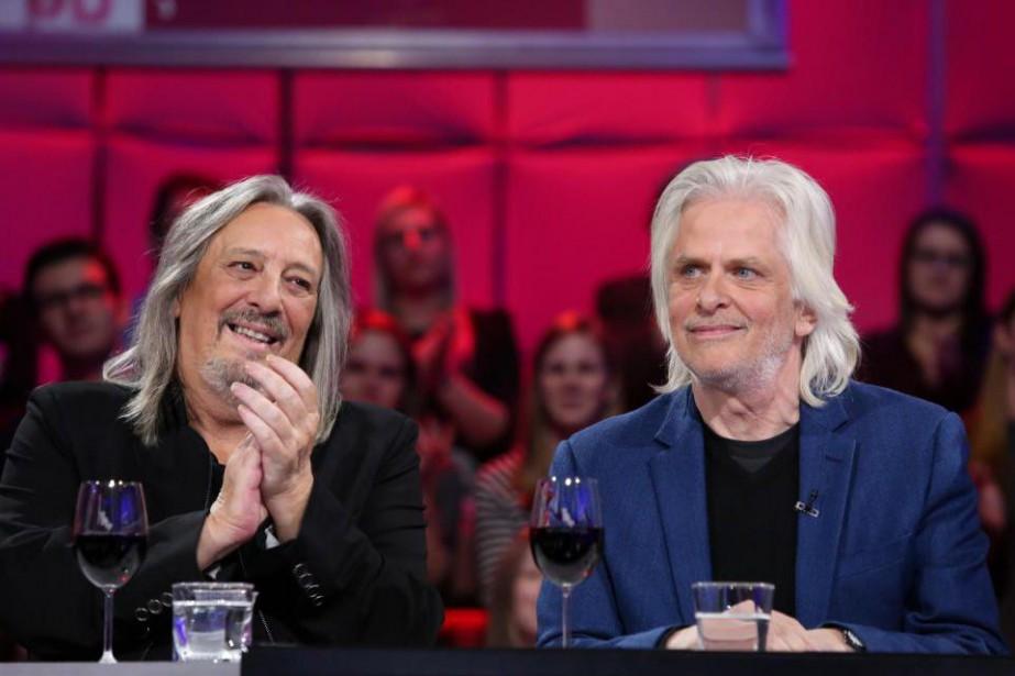 Serge Fiori et Louis Valois, d'Harmonium... (photo karine dufour, fournie par ici radio-canada télé)