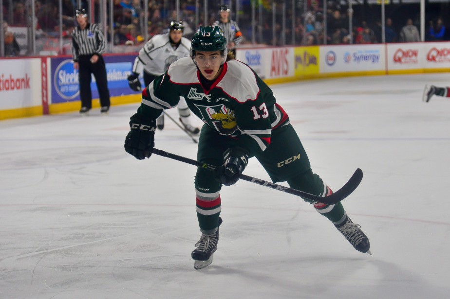 L'attaquant Nico Hischier, des Mooseheads de Halifax.... (Photo archives PC)