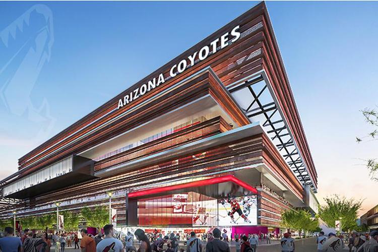 Le nouvel aréna des Coyotes de l'Arizonase situerait... (Image tirée du compte Twitter des Coyotes de l'Arizona)