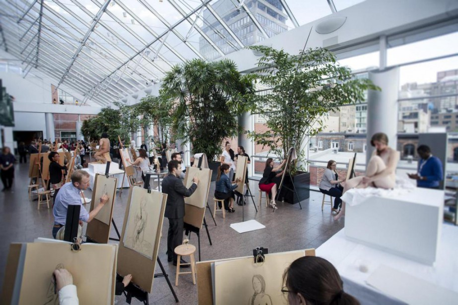 Le Cercle des jeunes philanthropes du MBAM, en... (Photo fournie par le Musée des Beaux-Arts de Montréal)