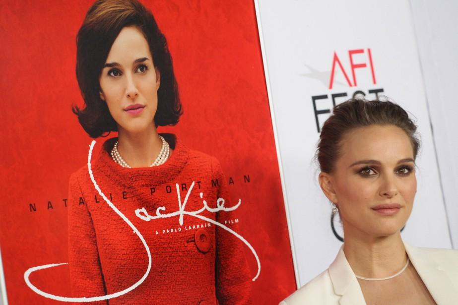 Natalie Portman àl'avant-première de Jackie tenue lundi à... (PHOTO AFP)