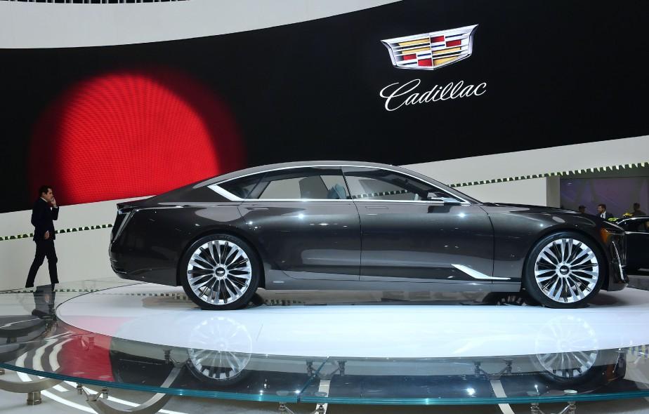 Le prototype Cadillac Escala est exposé au Salon de l'auto de Los Angeles, qui s'appelle désormais Automobilité L.A. (AFP)