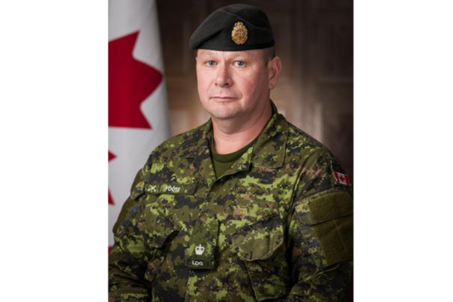 Le major Scott Foote... (PHOTO FOURNIE PAR LA Défense nationale)