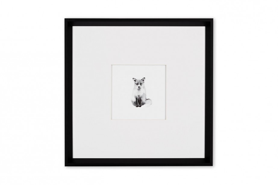 Tableau petit renard 17,5x17,5 pouces, 95 $ en exclusité Web chez Simons (Fournie par Simons)
