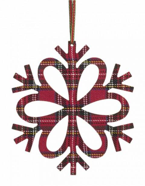 Ornement en flocon, tartan Modern Cabin, 7,99 $ chez La Baie (Fournie par La Baie)