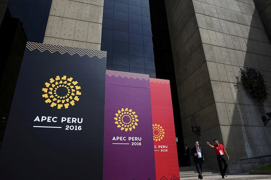 Les 21membres de l'APEC, réunis jusqu'à dimanche à... (PHOTO MARIANA BAZO, REUTERS)