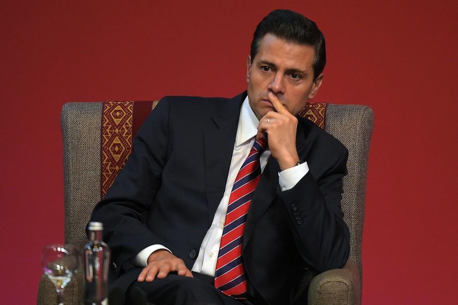 Le président mexicain Enrique Peña Nieto.... (Photo AFP)