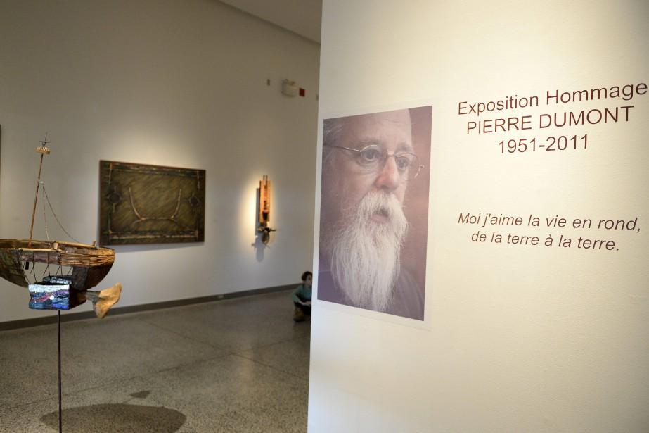 L'exposition hommage à Pierre Dumont permet d'effectuer un voyage à travers 40 ans de création artistique. (Photo Le Progrès-Dimanche, Jeannot Lévesque)