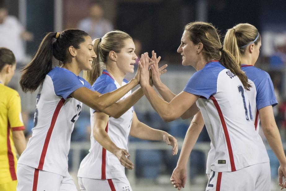 Les joueuses de l'équipe des États-Unis de soccer ont... (Photo USA Today Sports)