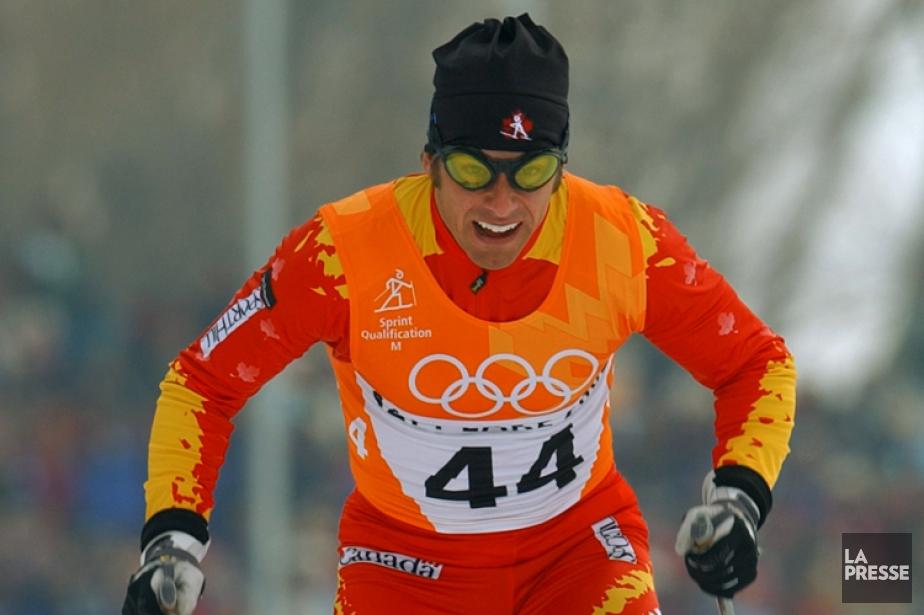 Donald Farley durant l'épreuve du 1,5 km aux... (Photo Bernard Brault, archives La Presse)