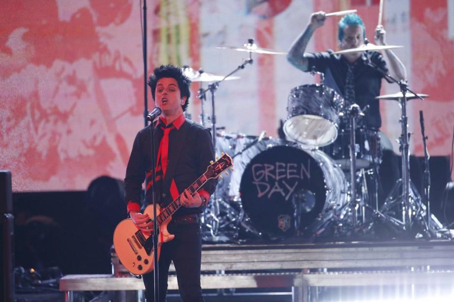 Green Day en performance aux AMA.... (PHOTO ARCHIVES REUTERS)