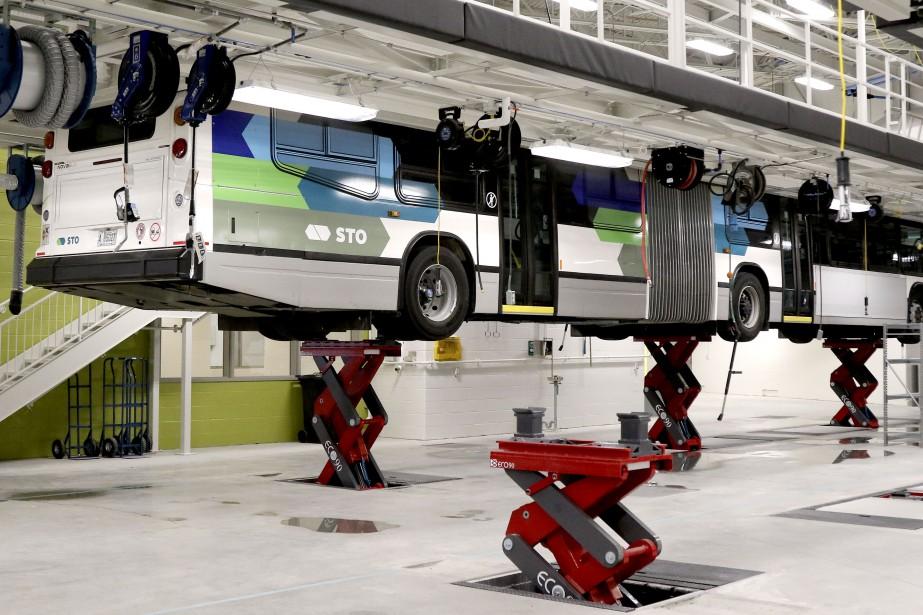 Capacité de 192 autobus 40 pieds ou 128 autobus 62 pieds (articulés). (Patrick Woodbury, Le Droit)