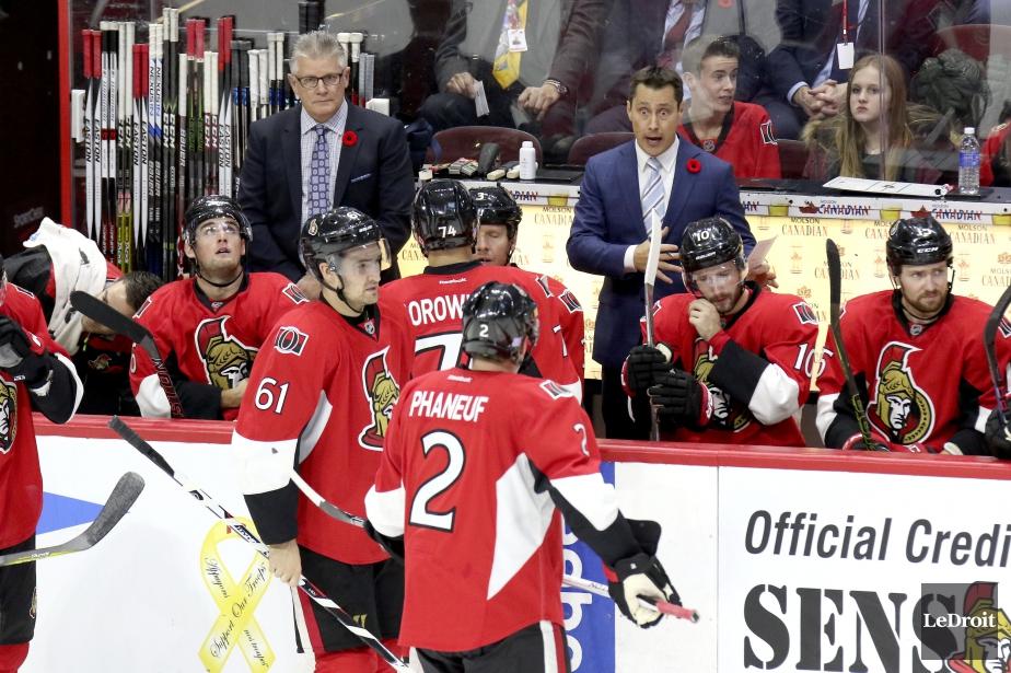 LesSénateurs d'Ottawa n'ont marqué que cinq buts en... (Photo Patrick Woodbury, Le Droit)