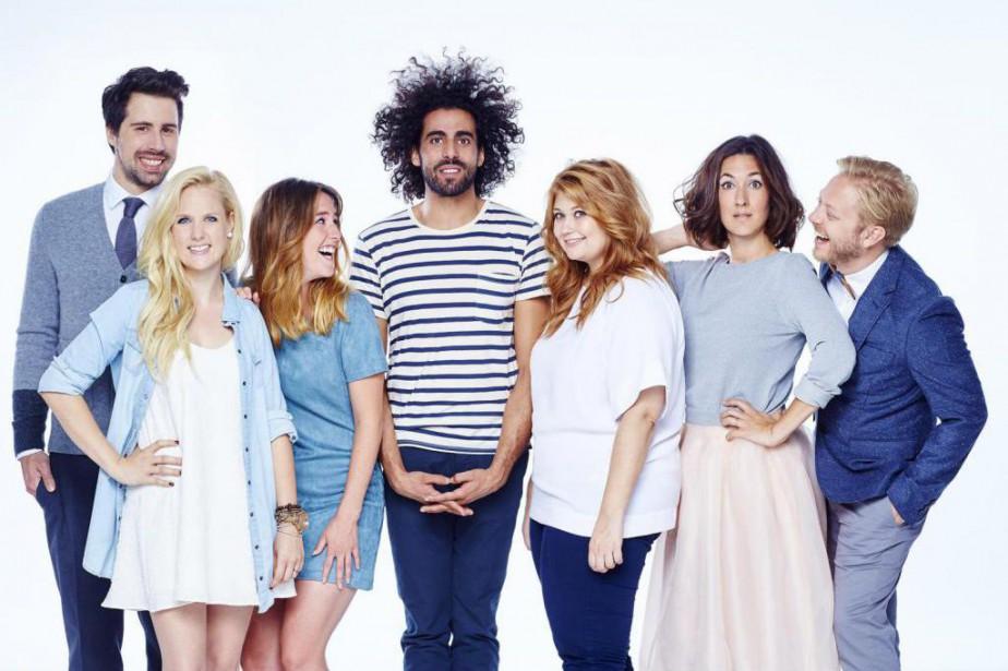 La distribution de la série Like-moi ! :... (Photo Julie Faugère, fournie par Télé-Québec)