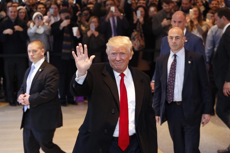 Donald Trump a donné ce mardi une entrevue... (PHOTO Mark Lennihan, AP)