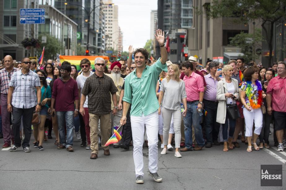 Justin Trudeau avait participé au défilé la Fierté... (PHOTO OLIVIER PONTBRIAND, ARCHIVES LA PRESSE)