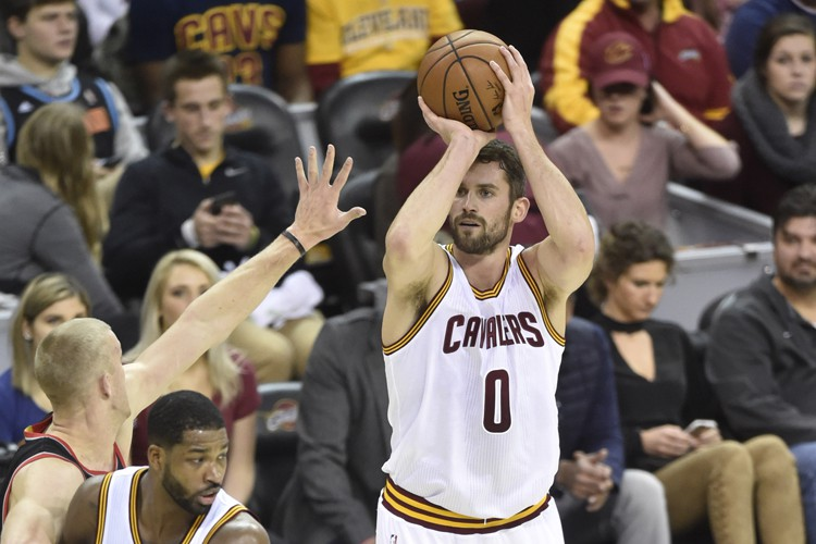 Kevin Love a réussi 11 tirs sur 14... (PHOTO REUTERS)