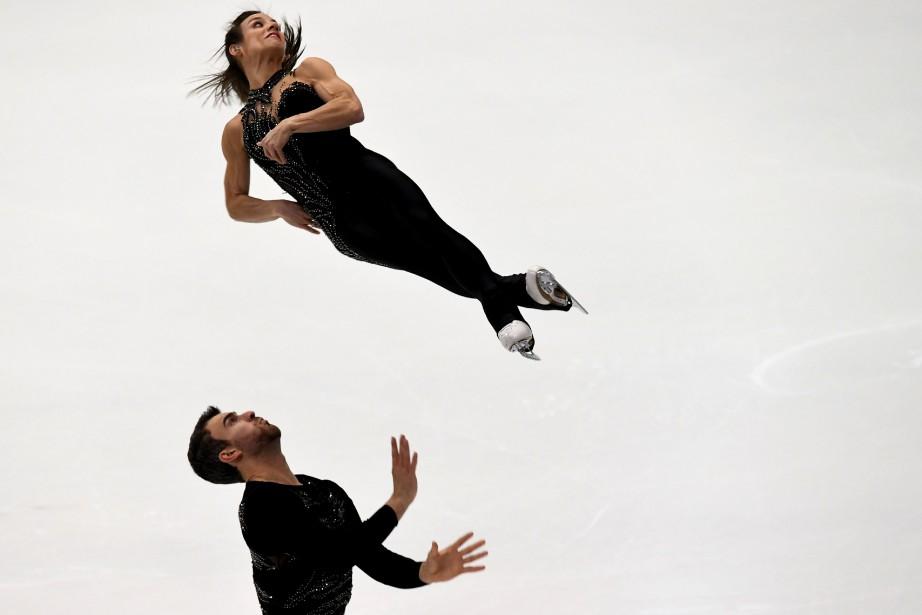 Meagan Duhamel et Eric Radford... (Photo Toshifumi Kitamura, AFP)