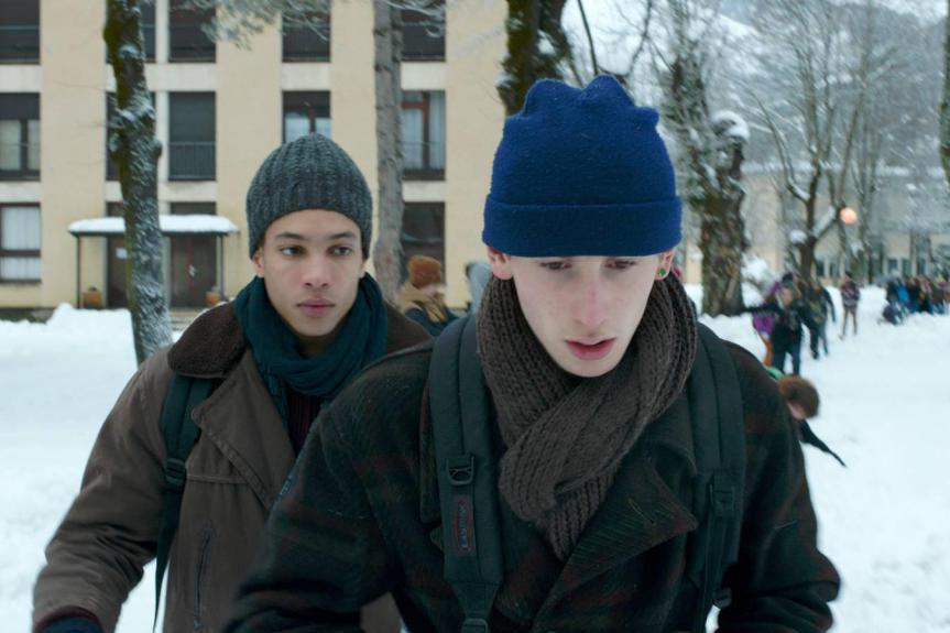 Corentin Fila et Kacey Mottet-Klein dans le film... (Photo fournie par le festival Image + Nation)