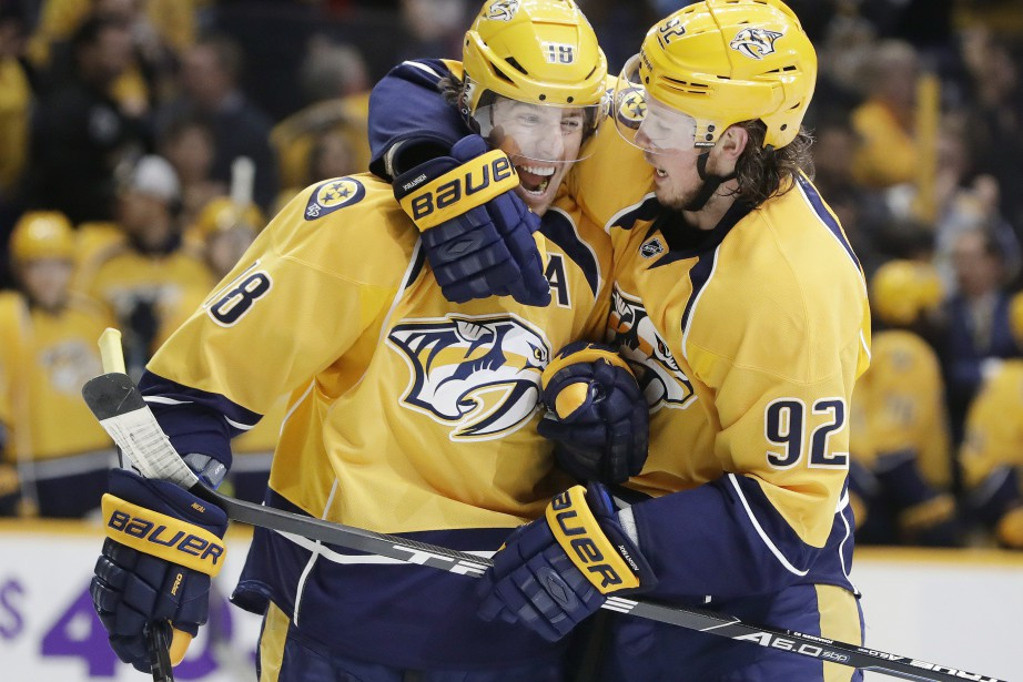James Neal et Ryan Johansen... (PHOTO Mark Humphrey, AP)