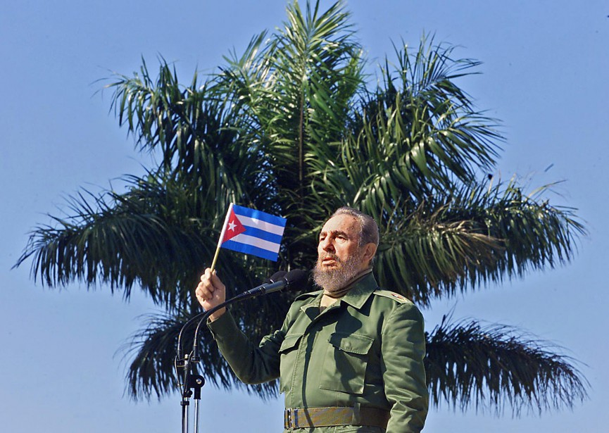 Fidel Castro en 2001. (Photo archives AFP)