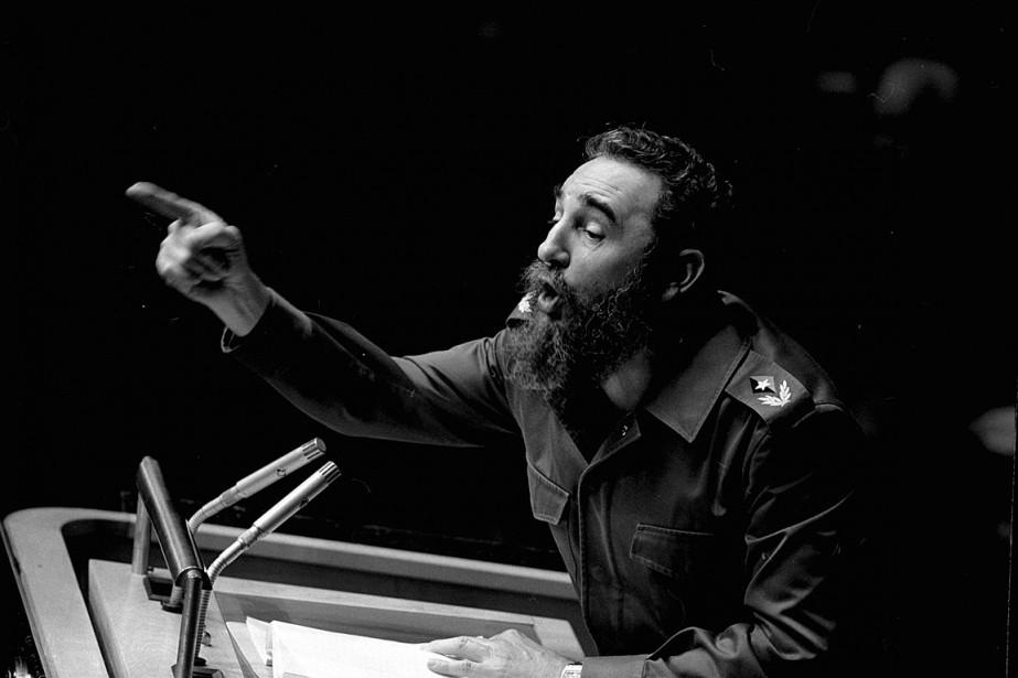 Fidel Castro a prononcé un secours devant l'assemblée... (Photo Marty Lederhandle, archives AP)