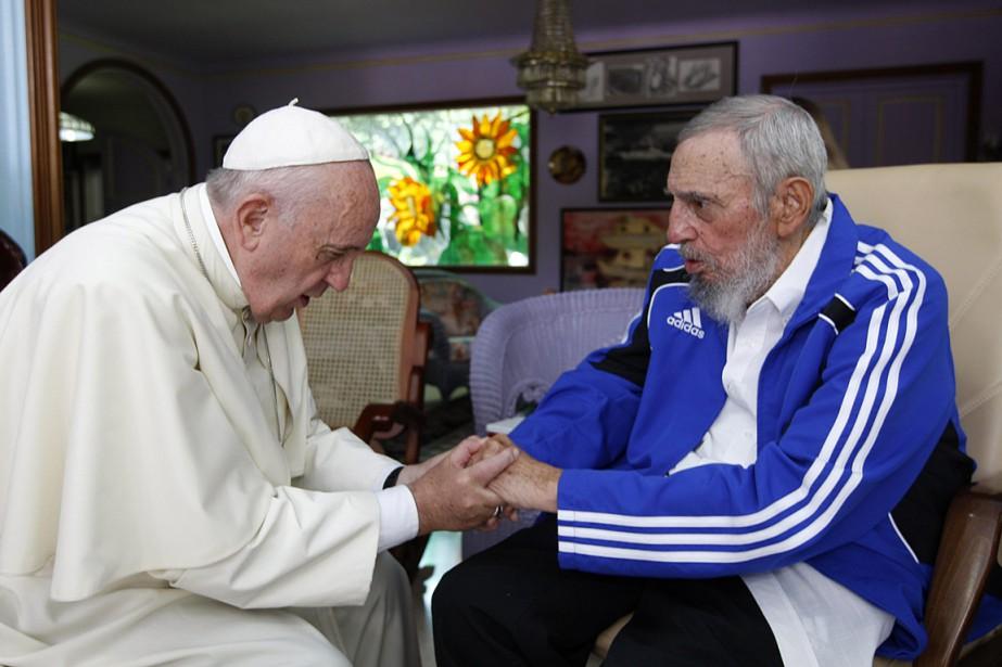 Le pape Francis a rencontré Fidel Castro lors de sa visite à Cuba, en septembre 2015. (Photo Alex Castro, archives AP)