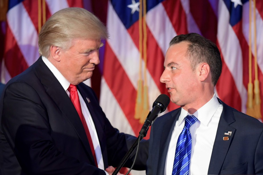 Donald Trump et Reince Priebus.... (PHOTO JIM WATSON, ARCHIVES AGENCE FRANCE-PRESSE)