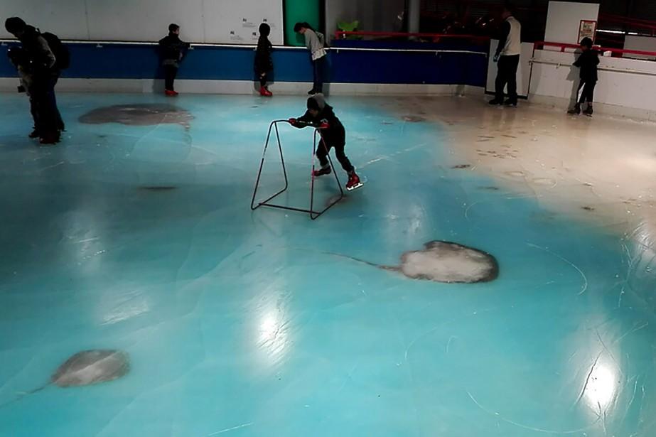 «Nous voulions que nos clients expérimentent la sensation de patiner sur la mer», s'est justifié un responsable. (PHOTO SPACE WORLD/FACEBOOK)