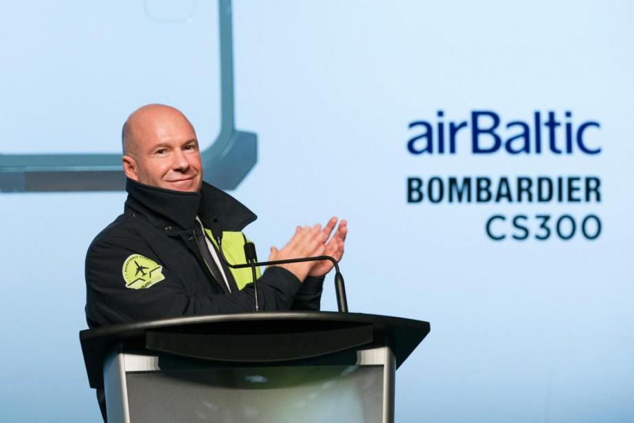 Alain Bellemare, PDG de Bombardier, a évidemment pris... (Photo Robert Skinner, La Presse)