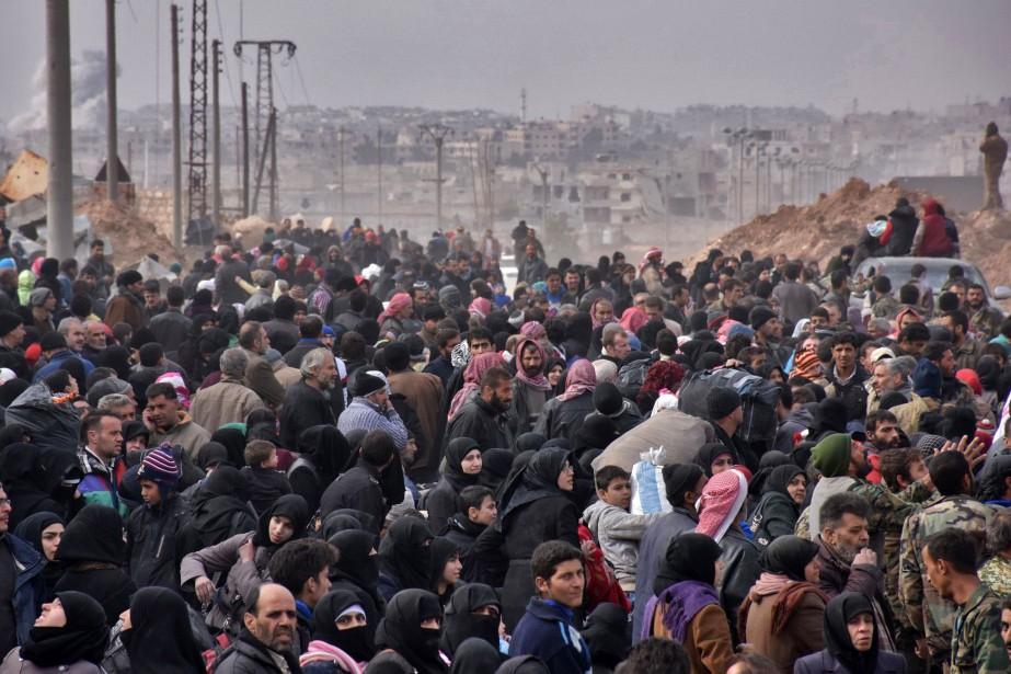 «Ceux qui fuient sont dans une situation désespérée.... (AFP)