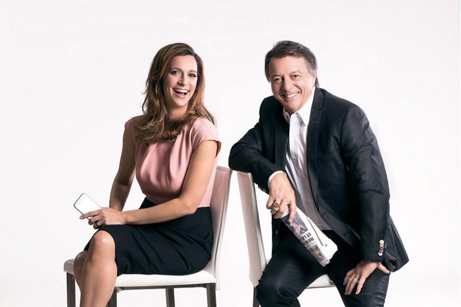 Marie-Soleil Michon et Jean-Luc Mongrain... (PHOTO FOURNIE PAR ICI RADIO-CANADA)