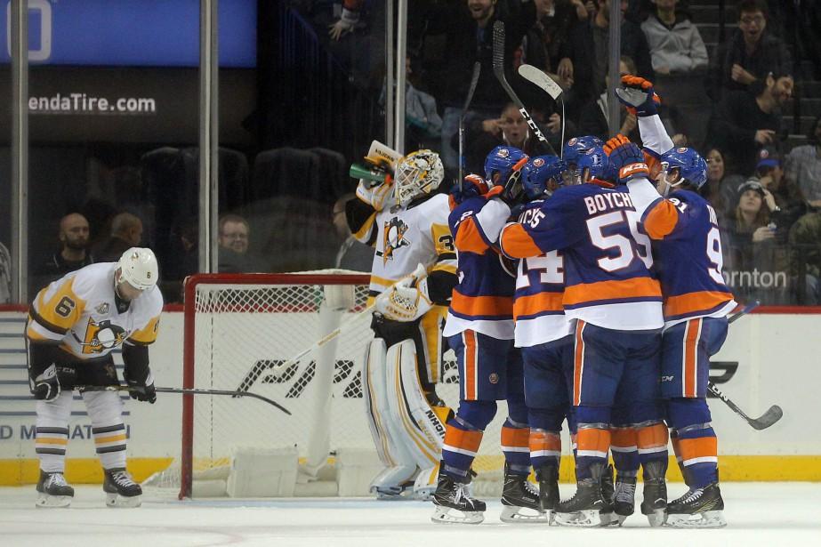 Les Islanders sont revenus de l'arrière après avoir... (Photo Brad Penner, USA TODAY Sports)
