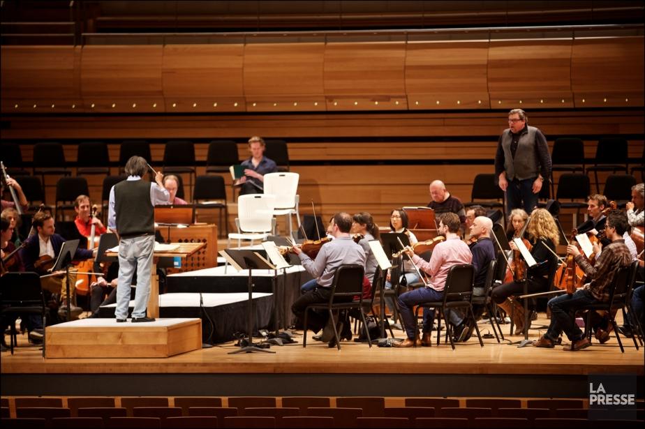 Kent Nagano et l'OSM en répétition en vue... (PHOTO ANDRÉ PICHETTE, LA PRESSE)