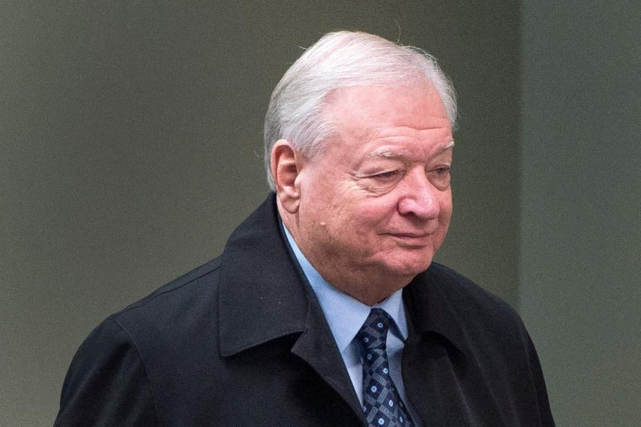 Gilles Vaillancourt, à son arrivée au tribunal, le... (Ryan Remiorz, PC)
