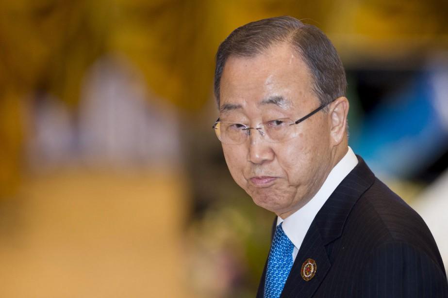 Le secrétaire général de l'ONU Ban Ki-moon.... (photo YE AUNG THU, archives Agence France-Presse)