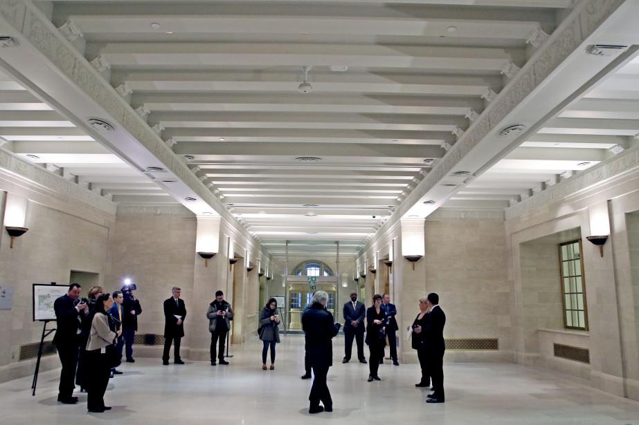 La structure intégrale et les façades de l'édifice ont été renforcées pour respecter les exigences parasismiques. (Patrick Woodbury, Le Droit)