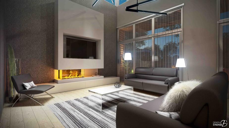 Les concepteurs ont accordé beaucoup de soin à l'éclairage et aux fenêtres parées de rideaux-filets. (Fournie par Graph Synergie)