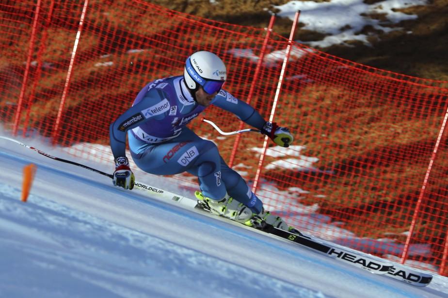 Le Norvégien Kjetil Jansrud a remporté lesuper-G de... (Photo Alessandro Trovati, AP)