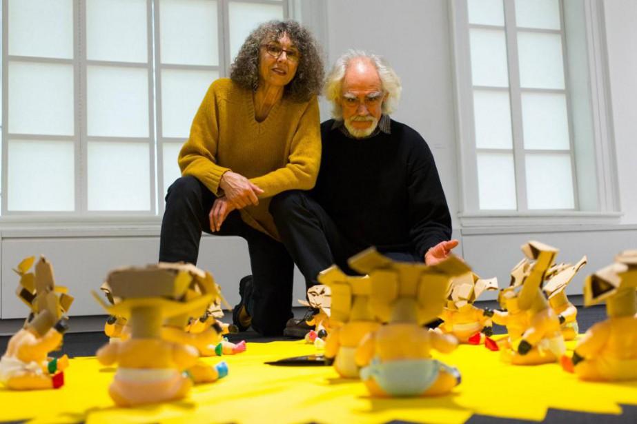 Monic Brassard et Yvon Cozic, du duo Cozic,... (Photo Olivier Jean, La Presse)