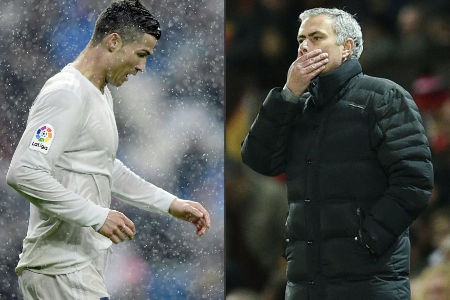 Cristiano Ronaldo et Jose Mourinho... (PHOTOS AFP)