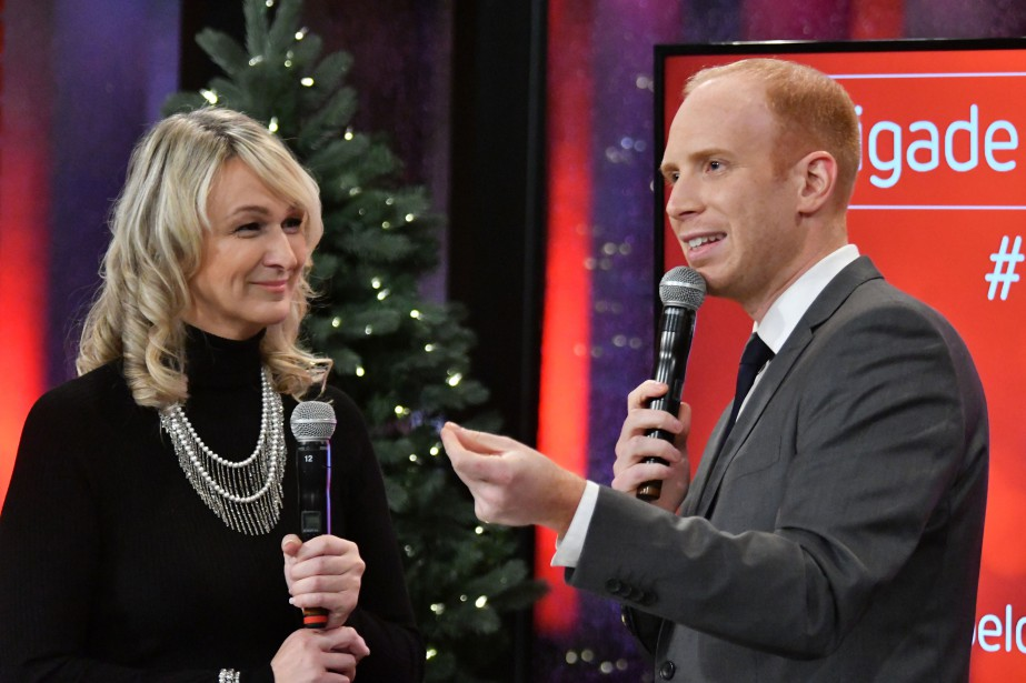 Jean-Philippe Nadeau et Carolyne Brochu ont participé à ce 58e téléthon du Noël du Pauvre | 2 décembre 2016