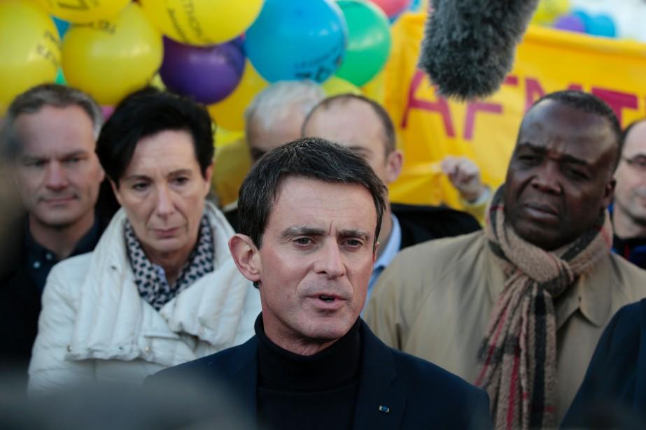 L'actuel premier ministre Manuel Vallsavait déclaré en octobre... (PHOTO GEOFFROY VAN DER HASSELT, AFP)
