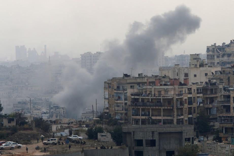Au 21ejour de sa dernière offensive, le régime... (Photo Omar Sanadiki, Reuters)