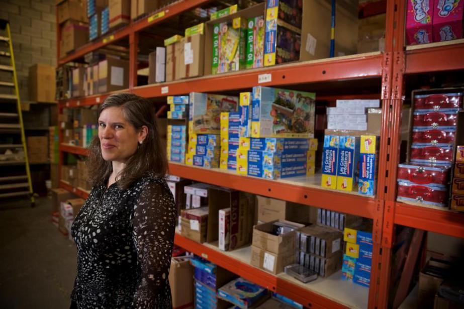 Isabelle Mathieu possède quatre magasins de jouets pour... (Photo André Pichette, La Presse)