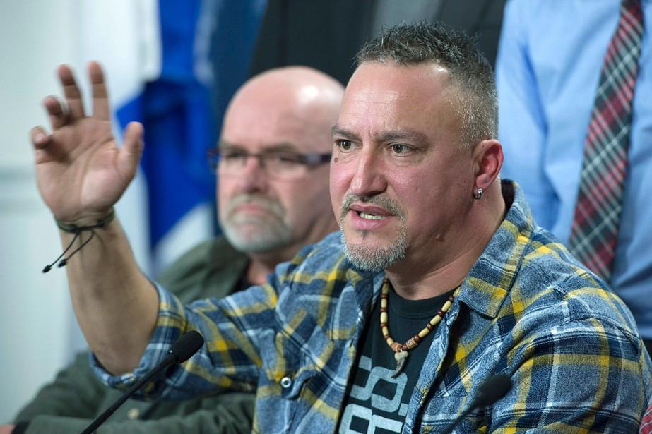 Au cours d'une conférence de presse ponctuée de... (Photo Jacques Boissinot, PC)