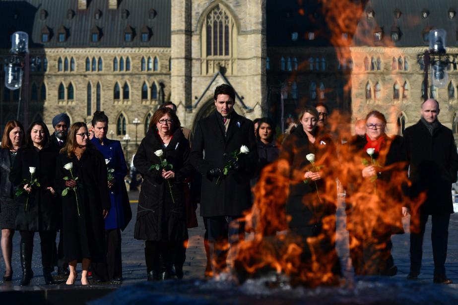 Poue commémorer le 27eanniversaire de la tragédie de... (Photo Sean Kilpatrick, PC)
