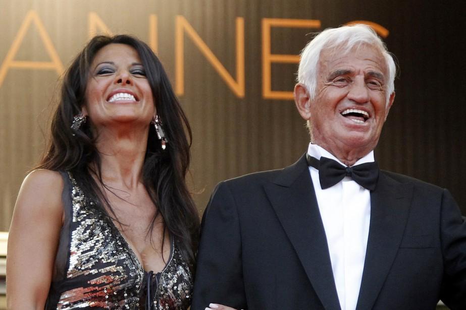 Barbara Gandolfi et Jean-Paul Belmondo lors du Festival... (PHOTO ARCHIVES REUTERS)