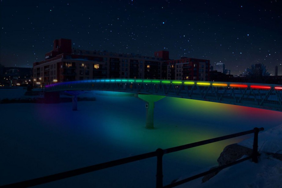Le projet de passerrelle Atwater illuminée faisait partie...