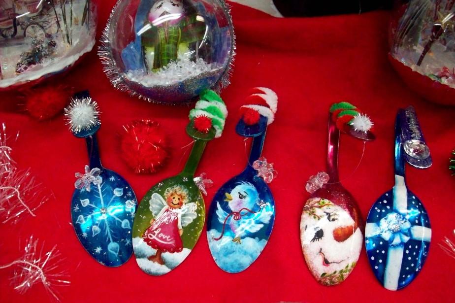 Janie Gauthier, d'Ateliers Jart, décore même les vieilles cuilllères qui ne servent plus. Une belle idée recyclée! (Janie Gauthier)